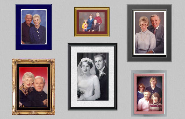 The Mason Family Picture Wall